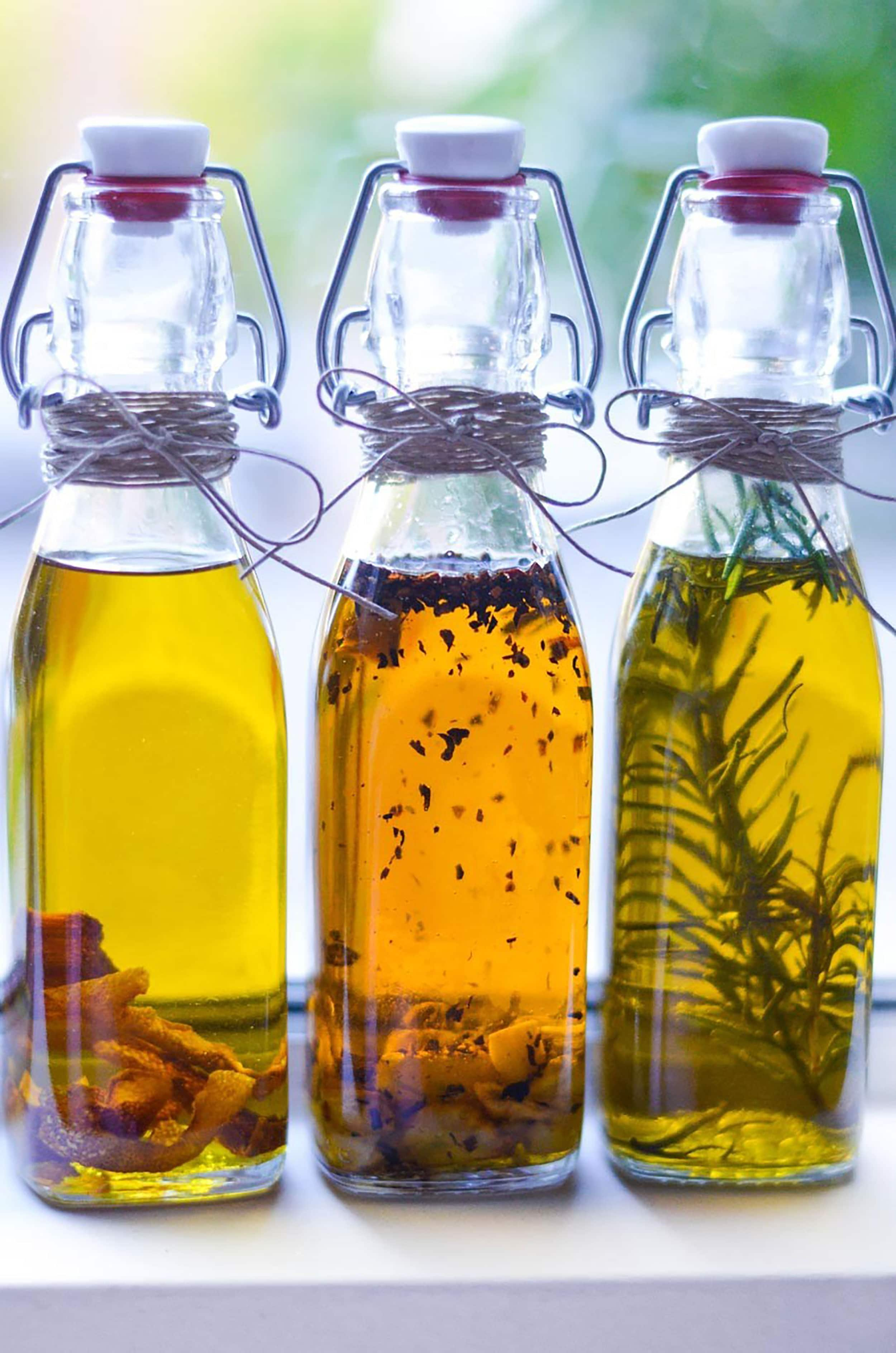Homemade Gift Idea Infused Olive Oils 2
