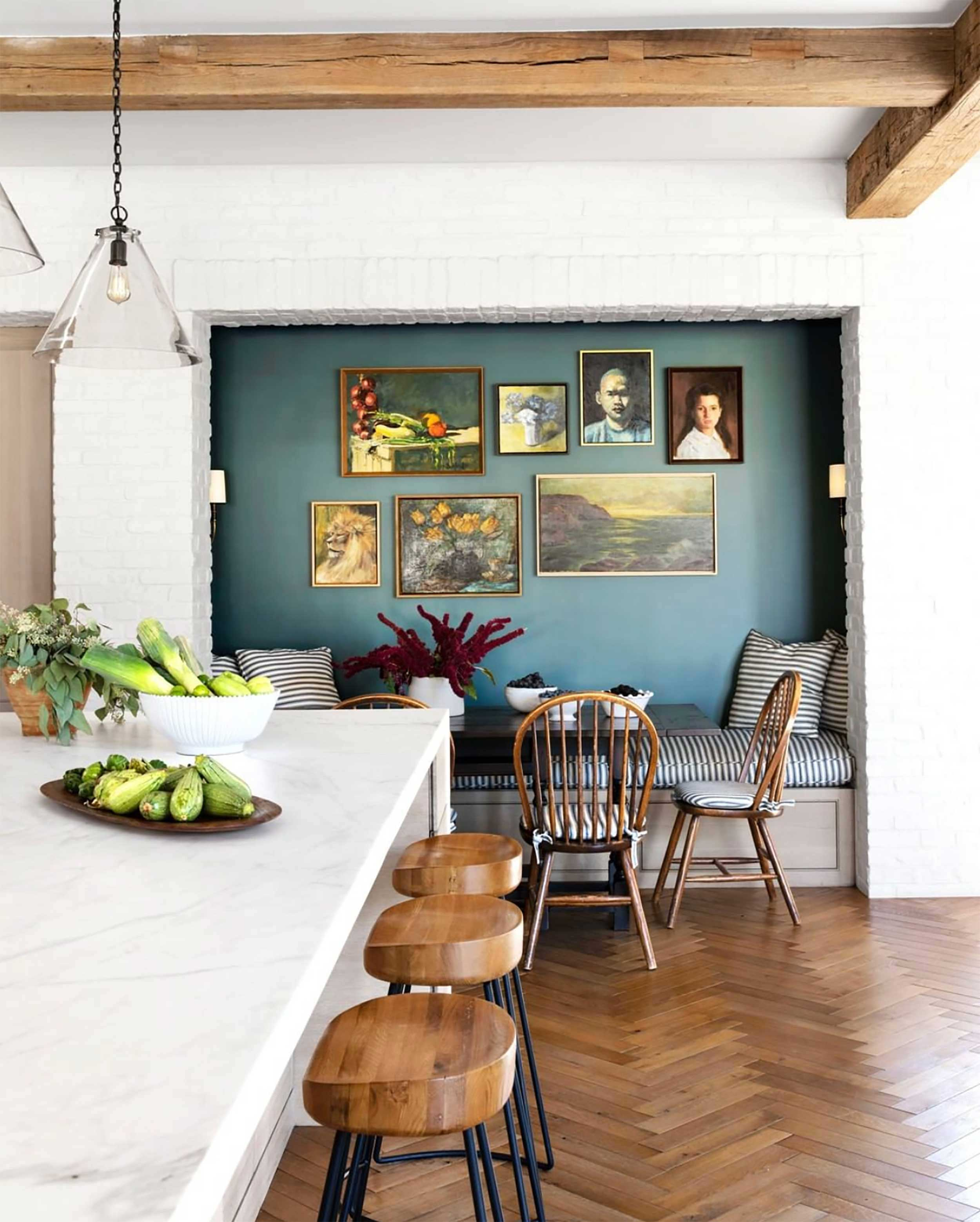Image House Beautiful Design Molly Decorating Dining Room Accent Walls Are Cool Again Get Them Right Glamorous Wall