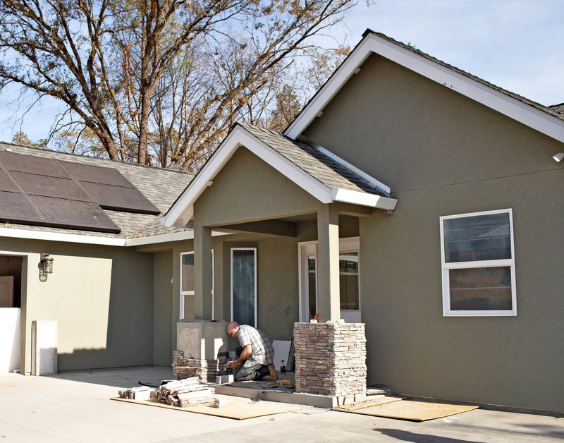 Paradise, CA, finishing touches to a newly rebuilt home