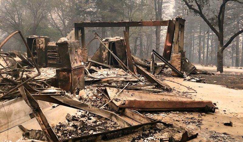 Paradise, CA, house burned to the ground