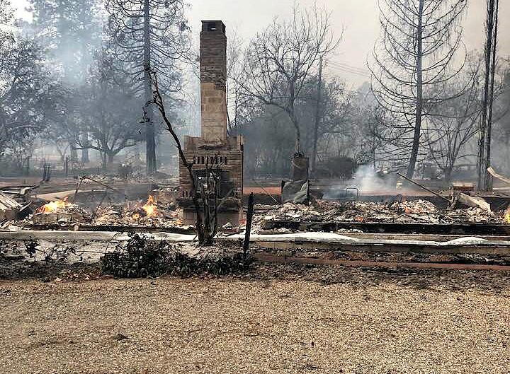 Paradise, CA house burned to the ground
