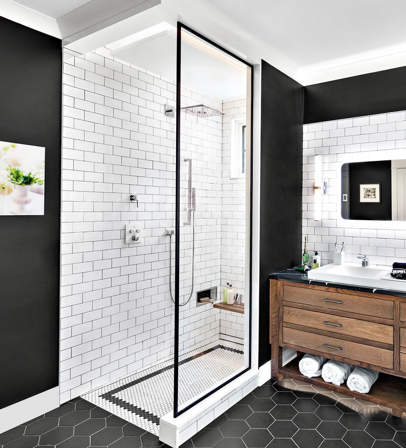 A shower without a door