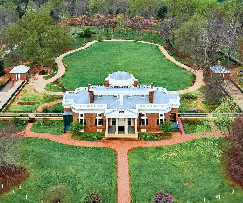 metal roof: Thomas Jefferson Foundation at Monticello, July/Aug 2020