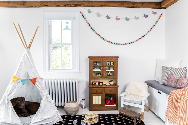 a Cape Cod-style remodel in Cumberland Foreside, ME, playroom